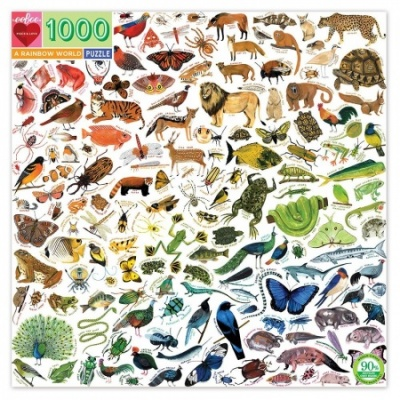 Eeboo 1000 Piece Puzzle - A Rainbow World